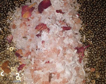 NEW Coconut Rose Pink Salt Soak Organic 8oz