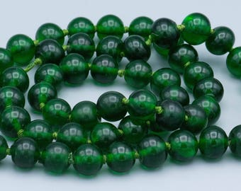 Antique Qing Dynasty Peking Green Glass Knotted - Rare size and Color SKU-TB-96
