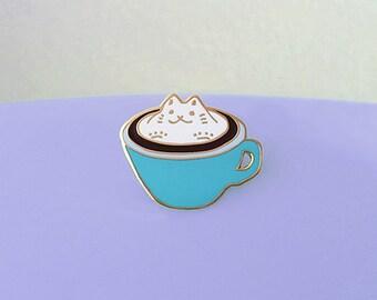 Cat Latte (Blue) Enamel Pin