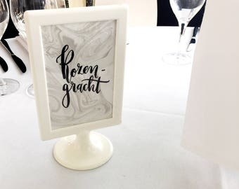Table names marble paper