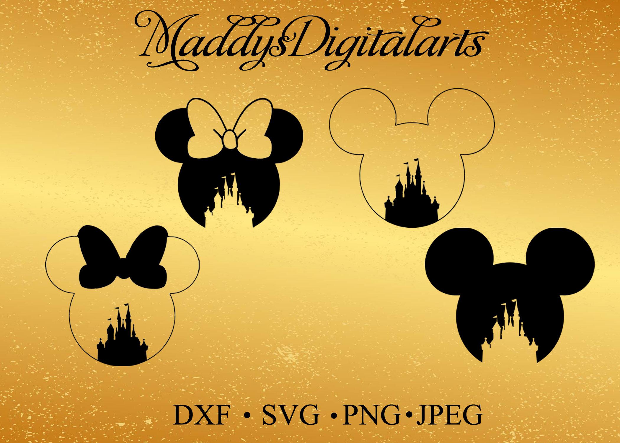 Disney Castle Mickey Mouse Svg Monogram Minnie Mouse Svg