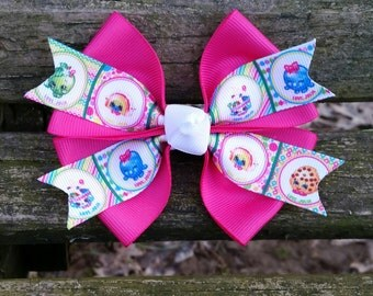 Pink Shopkins Hair Bow (4 inch)