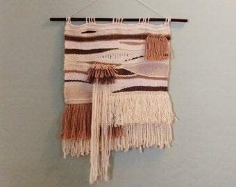 Woven Tapestry Art - Farmhouse Style - Jungalow - Weaving - Woven Wall Hanging - Rustic - Modern Home - Textile Wall Hanging - Cottage Style