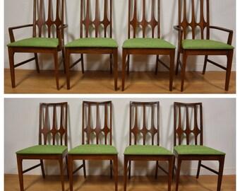 Broyhill Brasilia Walnut Dining Chairs- Set of 8