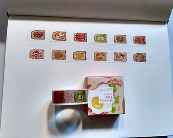Food Washi Tape Genki toast,scrapbooking stickers,DiY,Paper Decorative masking Tape