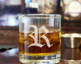 2pcs - Old English Personalized Rocks Glasses - Engraved Whiskey Glasses - FJM5714378-19