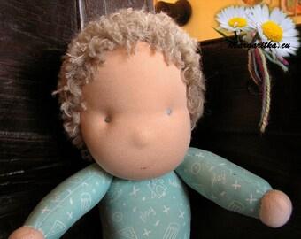 Sammy, large, soft and supple cuddle doll, cotton waldorf doll, large steiner boy doll, waldorf baby boy, toddler doll, steiner doll