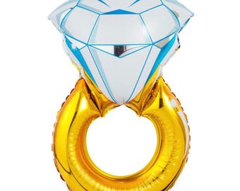 Balloons - Diamond Ring Balloon - Large - great for events, weddings, bridal showers, engagement parties and etc