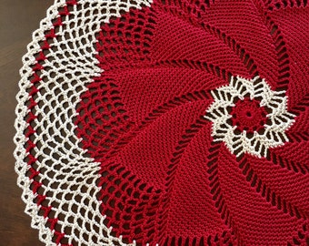 Pinwheel Doily - Coffee Table - Pinwheel Crochet Doily - Handmade Doilies - Rustic Decor - Table Decor - Housewarming Gift - Prim Decor