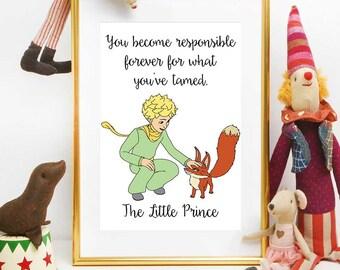 Ähnliche artikel wie der kleine prinz-grafik, inspirierende ... - Kinderzimmer Der Kleine Prinz