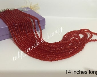 Long red high quality crystals Malla with manjoos piece