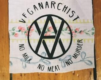 Vegan Anarchist Patch