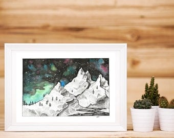 Moutain Milky Way Print