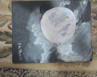 original acrylic painting:  Moonlight