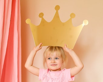 Golden crown acrylic mirror fir kids room, nursery room