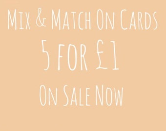 Birthday Cards (Pack Of 5, Mix & Match)
