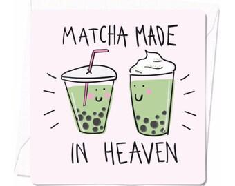 Matcha postcard