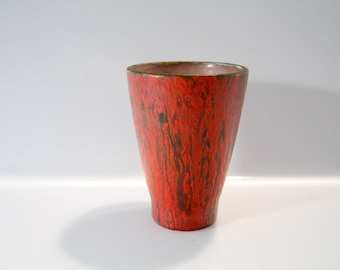 Beautiful Ruscha vase, decor Vulcano, West German Pottery - WGP, Fat Lava