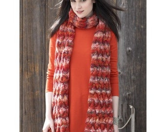 Knitting pattern Cable Scarf / PDF / Vintage pattern