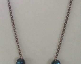 "17"" Copper Swarovski Crystal Necklace"
