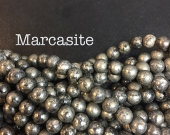 6MM marcasite pyrite beads