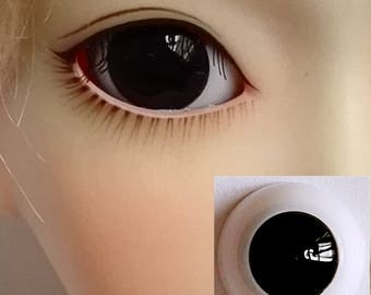 Pupilless Plain Black Doll Eyes for BJD Dollfie 8mm 10mm 12mm 14mm 16mm 18mm 20mm 22mm