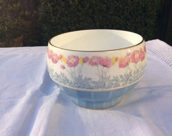 Sale 30% off Minton Bone China Sugar Bowl: dates from 1920s floral design with gild edge