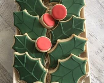 Holly Leaves Platter