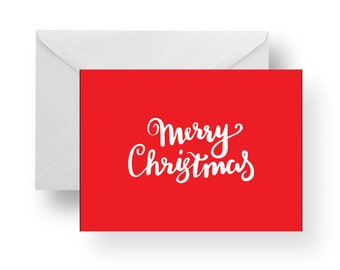Christmas Cards, Holiday Cards, Christmas Note Cards, Merry Christmas Card, Red Card, Christmas stationery