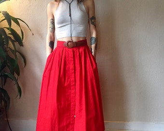 Sweet Red Skirt with Pockets!