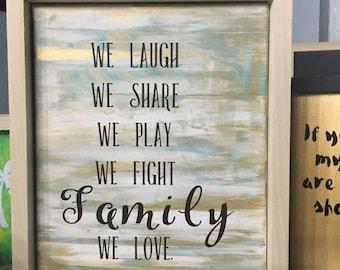 Family love canvas