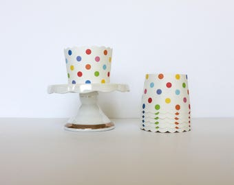 Rainbow Polka Dot Treat Cups / Rainbow Treat Cups / Treat Cups / Baking Cups / Rainbow / Rainbow Party