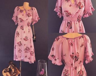 Vintage purple summer dress