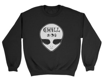 Grunge Chill Alien Sweatshirt