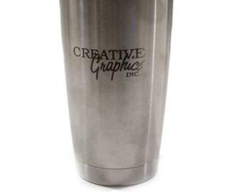 Personalized YETI Tumbler, Engraved Yeti 20oz Tumbler, YETI Rambler, Laser Engraved YETI - Groomsmen Gift - Corporate Gift