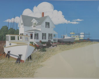 Glen Opie, Home Port.  Signed and numbered lithograph, 8/260.