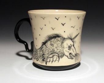 Hybrid Creature Mug - Coffee Cup - Hand Painted - Hybrid Animals