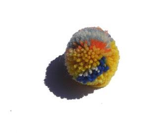 PomPoms mini Bobble red yellow colorful wool Pom Pom garlands decoration Partydeko