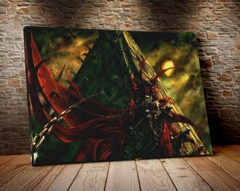 Spawn cm 50 x 70 print on canvas already framed and ready to hang model3.ROM