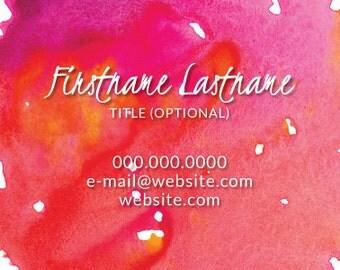 Business Card - Pink Splash