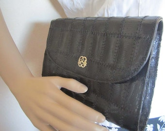 Vintage 80s clutch bag shoulder bag leather bag