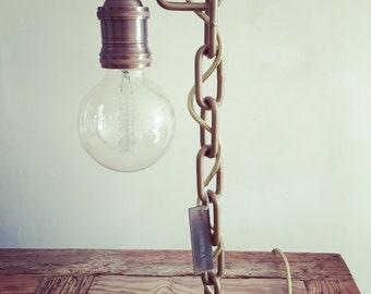 Handmade gold nut lamp