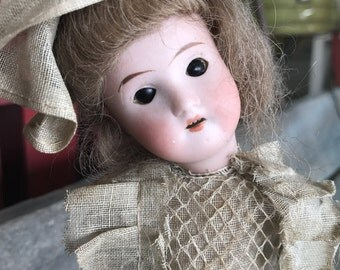Recknagel Doll |  All Original German Bisque Head Recknagel Doll |  Open Mouth