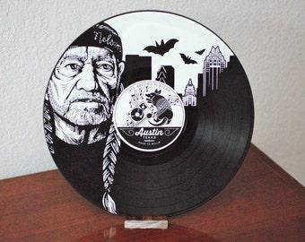 Personalized Austin Skyline Vinyl Record Art  Gift - Birthday Holiday Christmas Wedding