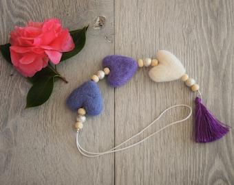 Aroma Heart Charms - Purple
