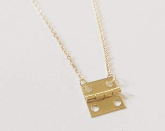 Cabinet hinge necklace