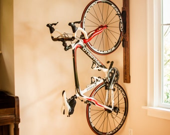 Bike rack - 4' Adjustable Vertical Wall-Mount for Home or Apartment - Zivot USA