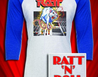 RATT Vintage Tour Concert Jersey 1984 Glam Metal Adult Large