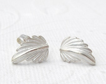 Small leaf earrings 925 Silver, Sterling Silver