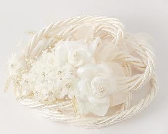 Ivory Wedding Lasso - Flower Wedding Lasso - Lazo de Boda - Lazo para Boda - Traditional Wedding Lasso Ivory